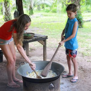 Cooking for Somboon Khao Sok Elephant Experience