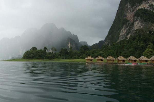 Floating bungalows during Khao Sok Lake Day tour