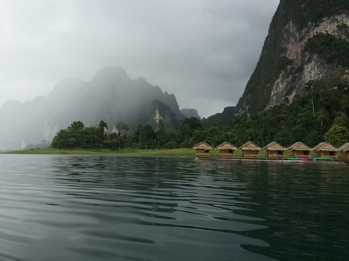 Floating bungalows during Khao Sok Lake Day tour