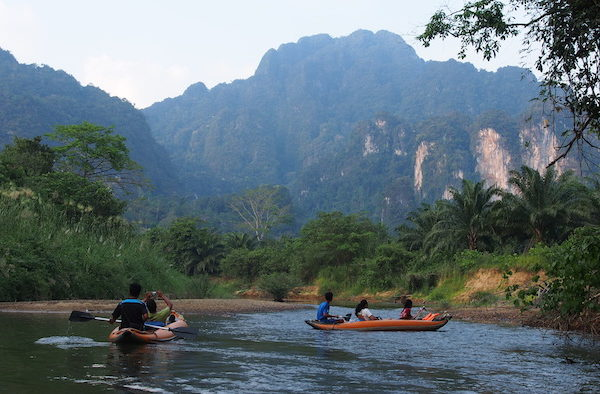 Stunning scenery during Khao Sok River Canoe