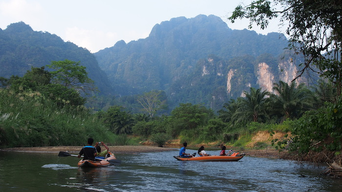 Stunning scenery during Khao Sok River Canoe
