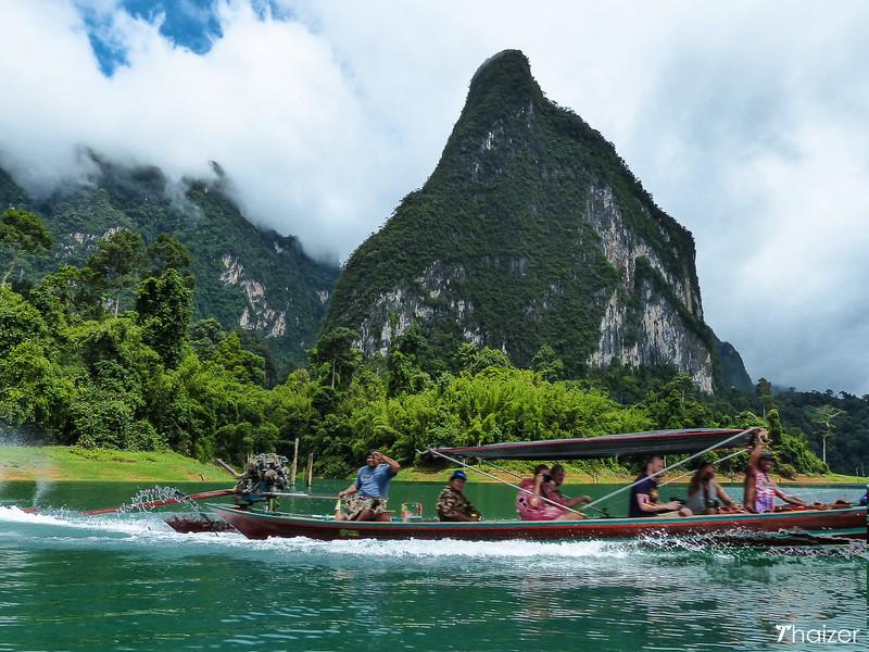 tourist boat on Cheow Lan Lake