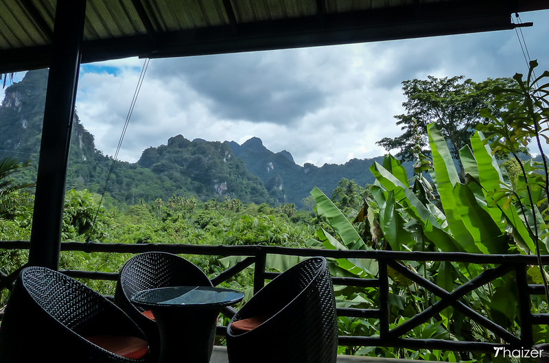 View from the restaurant Anurak Lodge